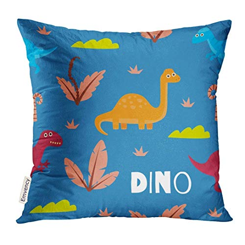 artyly Kissen KissenbezugBuntes tierisches nettes Dinosaurier-lustiges Entwurfs-Grün-Baby Decor Square Accent Pillowcase 45x45 cm (Elmo Dekorationen 1. Geburtstag)