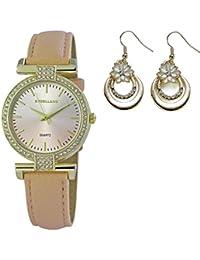 Set Cadeau, tendance, Aparte Montre de bracelet avec Crystal strass pour  femme avec écharpe a3e554b35cb
