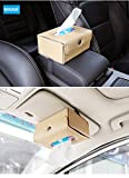 #5: NIKAVI Car Sun Visor Tissue Case Napkin Holder Clip (Beige)