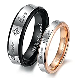Couple rings for love couple band finger rings for girls 2 piece couple band