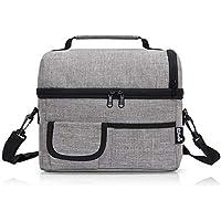 PuTwo Lunch Bag, Bolso Nevera TérmicaPlegable, Gris, 8 L (24 x 22 x 16 cm)