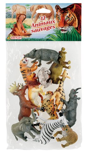 Cofalu Kim'Play, Confezione 12 animali selvatici