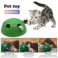 Cat Interactive Toy Automatic Tease Cat Toy Funny Hide and Seek Cat Exercise Toy Random Rotating Pet Cat Kitten Entertainment Intelligence Play Toys
