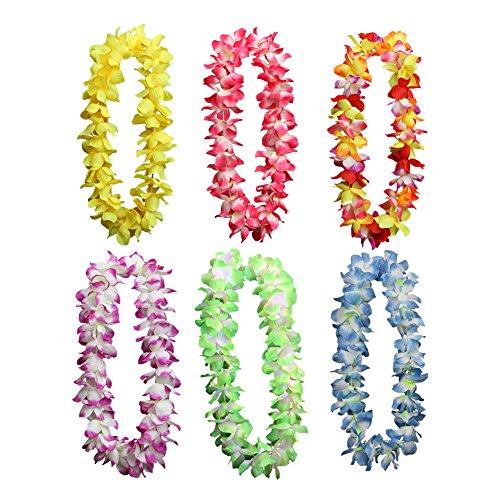 ian Leis Halskette Kränzen Hula Künstliche Blumen Girlande Stirnband Ring Home Dekoration Party Supplies Lila, Weiß (Herr Der Ringe Party Supplies)