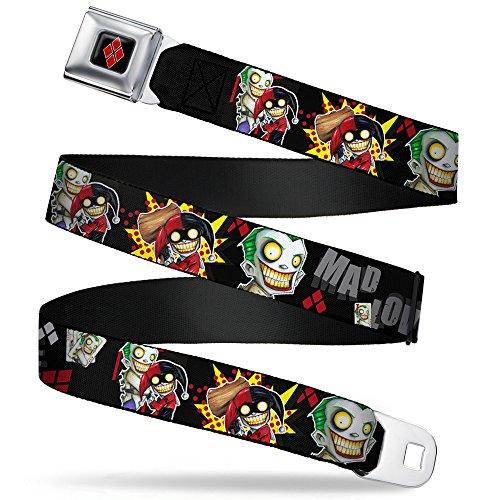 Buckle Down Seatbelt Joker Harley Quinn Kids Belt