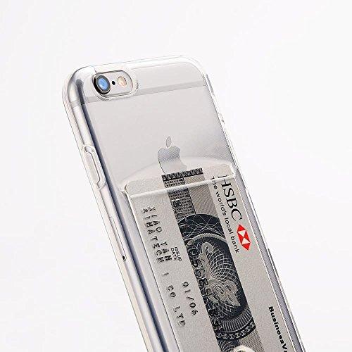 Funda de silicona gel Transparente iPhone 7 / 8, funda de TPU de alta resistencia y flexibilidad con terjetero. Diseño exclusivo de Diirihiiri.