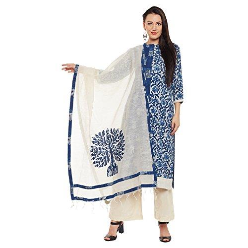 Pinkshink Indigo Batik Print Dress Material PRT204