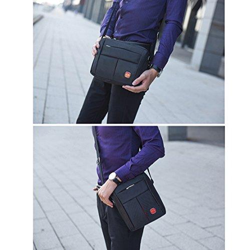 Super moderno unisex multiuso piccola da spalla/viaggio utilità borsa lavoro pratico Handy da uomo in nylon messenger bag Black2