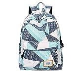 Rucksack für Mädchen,Mode Gedruckt Hochschule Taschen Schüler Schule Rucksack Passt 14 Zoll Laptop