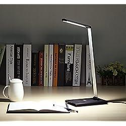 August LEC250 - Lámpara LED de escritorio – Flexo con 7 Niveles de Luminosidad, Plegable y Ajustable