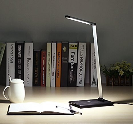 Dimmable 9W LED Desk Lamp - August LEC250 - Office Work Light with Dimmer for Adjustable Brightness -