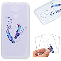 Huawei Honor 6A Smartphone Case,Ultra Slim Premium Soft TPU Silicone Case Transparent Flexible Lightweight Rubber Durable Back Shockproof Bumper Anti-Scratch Anti-Slip Grip Cover Protective Case for Huawei Honor 6A - Feather