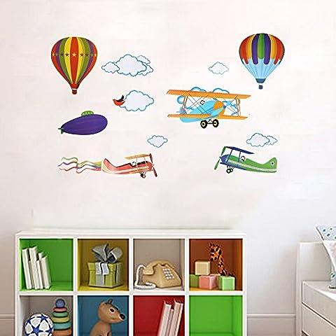 Stickers Muraux Colorés Ballon À Air Chaud En PVC DIY