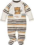 Schnizler Unisex Baby Schlafstrampler Schlafoverall Nicki Ringel Tiger, Oeko-Tex Standard 100, Beige (Natur 2), 74