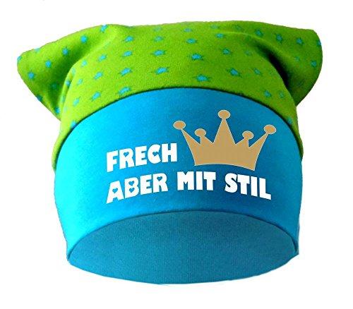 Baby KOPFTUCH Mütze (Farbe lime-royal) (Gr. 2 (68-98) Frech aber mit Stil