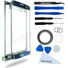 Kit de remplacement d'écran tactile pour Samsung Galaxy S7 EDGE G935 BLEU #inclus: Vitre de rechange / Pincette / Ruban adhésif 2mm / Chiffon microfibre / Kit d'outillage spécifique / fil métallique MMOBIEL