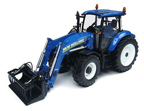 Universal Hobbies-uh4274-Traktor-New Holland t5.115mit vordere Fahrradgabel-Echelle 1/32-Blau