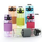 Uzspace Trinkflasche - Infuser Wasserflasche - 350ml - 500ml -650ml- 1L- Eco Friendly & BPA-freiem Kunststoff - Ideale S