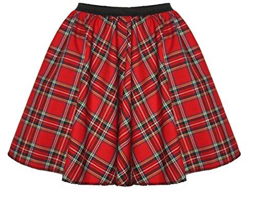 Gonna per Adulto, fantasia tartan, modello skater, ideale per ogni evento e festività tradizionali scozzesi, disponibile in diversi colori, lunghezza 43,2cm Royal Stewart