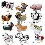 vientiane Globos De Animales Caminando, 12 Piezas Globo de Helio Caminando para La Fiesta De Cumpleaños Deco Kids Toy Gift