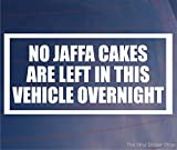 Best Bumper Stickers - NO JAFFA CAKES LEFT IN VEHICLE OVERNIGHT Funny Review