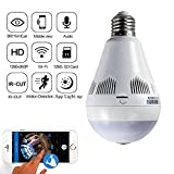 Mobimint Wireless Panoramic Bulb 360° IP Camera,1.3MP, Fisheye Vision, Remoting Monitoring Home Security