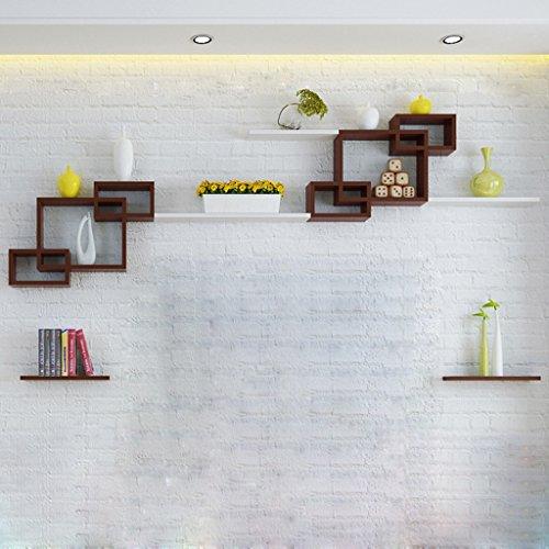Étagères en étagère en bois de mur en bois Étagères créatives pour étagères murales