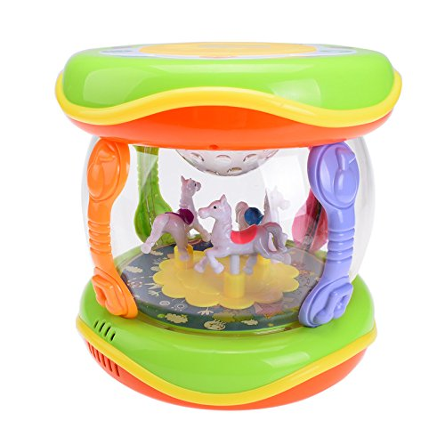 Magicwand Wonder Land merry-go-round Musical Drum with feather Touch Buttons  available at amazon for Rs.399