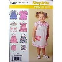 Simplicity 2461 - Patrones de costura para vestidos de niñas (varias tallas)
