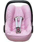 Blausberg Baby Bezug für die Maxi Cosi Pebble Babyschale in rosa mit Sternen