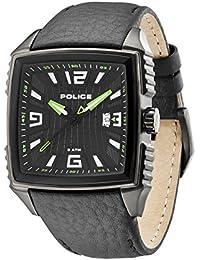 Police PL.13839JSU-02 - Reloj analógico de cuarzo para hombre con correa de piel, color negro