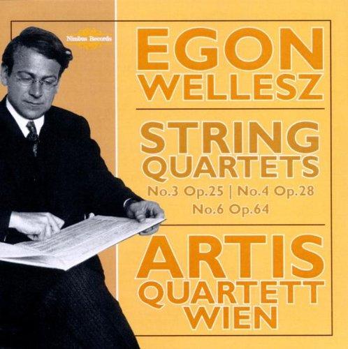 Egon Wellesz: Streichquartette Nr. 3 (op.25), 4 (op.28) und 6 (op.64)