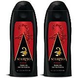 Scorpio - Gel Douche pour Homme - Rouge - Flacon 250 ml - Lot de 2