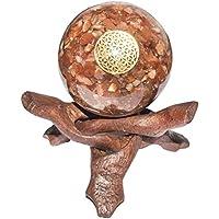 Crocon Karneol Energetische Kugel Ball Blume des Lebens Symbol Energie Generator für Reiki Healing Chakra Balancing... preisvergleich bei billige-tabletten.eu
