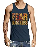 Stylotex Herren Tank Top Basic Fear Los Angeles, Größe:M, Farbe:Navy