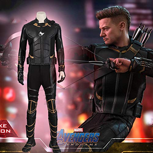 Costumi per Adulti, Avengers 4 Hawkeye Cosplay Clothes Barton Wandering Samurai Cos Clothing Full Set (remarks Shoe Size)-XL