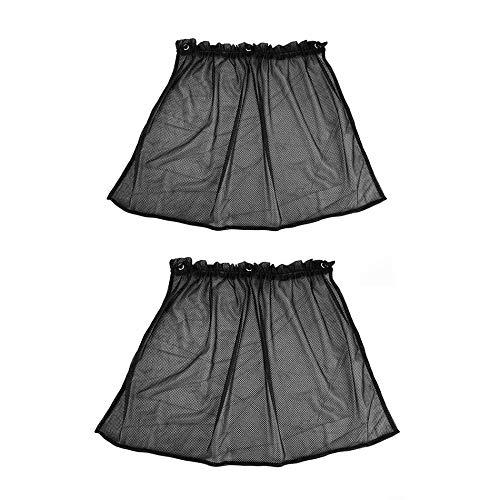 Preisvergleich Produktbild GailMontan 2pcs Car Sun Shade Side Nylon Mesh Window Curtain Sunshade UV Protection(Black)