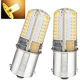 Bonlux 2-pack Single Contact Bayonet Ba15s LED Bulb 1141 1156 1073 1093 1129 LED Replacement AC/DC10-20V Warm White 2700k for Interior RV Camper Yard Lighting (3 Watt, Warm White)