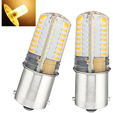 Bonlux 2-Pack Ba15s LED lámpara de 12V blanco cálido 2700K solo contacto de bayoneta SBC Ba15s 1156 1141 1073 1093 1129 LED de sustitución para RV interior caravana del barco iluminación (3 vatios, blanco