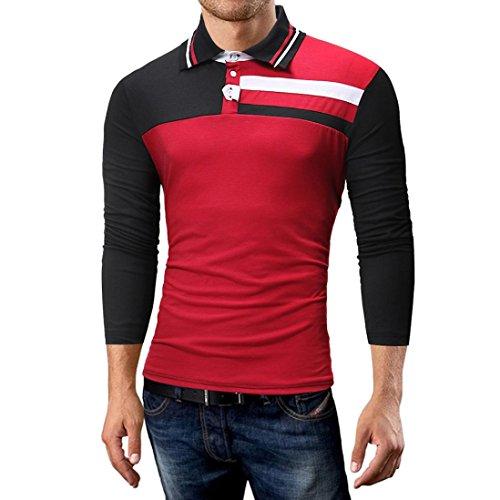 Malloom® Mode Persönlichkeit Camouflage Männer Casual Schlank Langarm Shirt  Top Bluse Outdoor Reise Kiwi Langarm Hemd a95e8fe92e