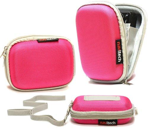 Navitech pinke Wasser wiederständige Harte Digital Kamera Tasche für das RICOH GR Limited Edition / RICOH HZ15 / Efina Pentax IMAGING