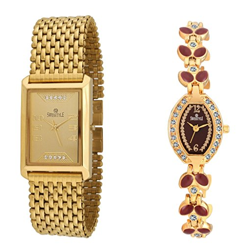 Swisstyle SS-1194G-4000R Dazzle Analog Watch For Couple