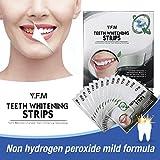 Tiras de Blanqueamiento Dental, Tiras Blanqueadoras, Y.F.M kit de blanqueamiento de dientes, Teeth Whitening Strips - Sin Peróxido - 14 Kits 28 Tiras