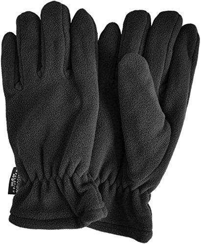 normani Thinsulate Herren Fleece Handschuhe mit Fleecefütterung - schön warm für kalte Tage Farbe Schwarz Größe XXL (Herren Thinsulate Handschuhe Xxl)