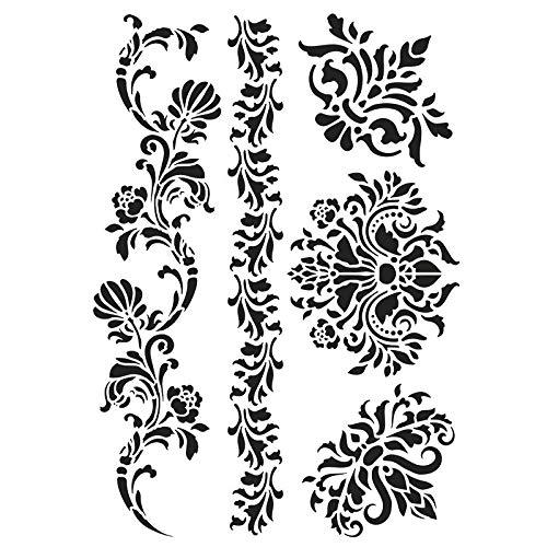 ablone | DIN A4 | Perfekt geeignet für Textilgestaltung, Wandgestaltung, Fenster, Papier, Scrapbooking, Kinder, Basteln, DIY (Ornamente) ()