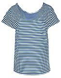 CONLEY'S Damen T-Shirts Blau/Weiss 58078, Size:M