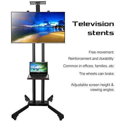 """Vemount Universal Mobile TV Monitorhalterung Bodenständer Ständerfuß für Flachbildschirm Plasma LCD LED für 32""""-65"""" höhenverstellbar VESA 600*400mm"""