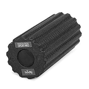 Faszienrolle SPORT PRO, schwarz, mit tiefen Rillen für intensive Faszienmassage, 30 cm Länge, Ø 15 cm, Faszien Massage Rolle