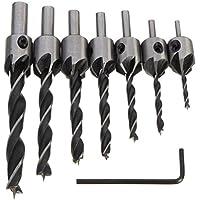 Set de brocas de la marca Malayas®. 7 unidades de 3 mm a 10 mm, para muchas superficies