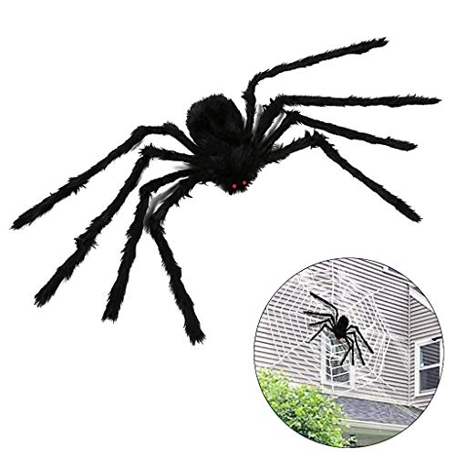 OWUDE 50 Zoll Riesenspinne, Halloween Haarige Spinne Scary -